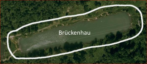 Luftbild des Brückenhau