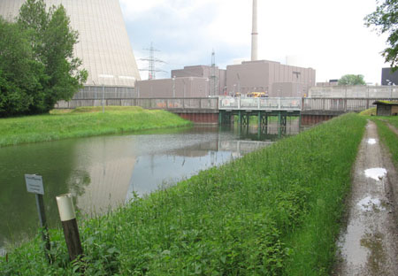 Gewässerbild des Einsaugkanals