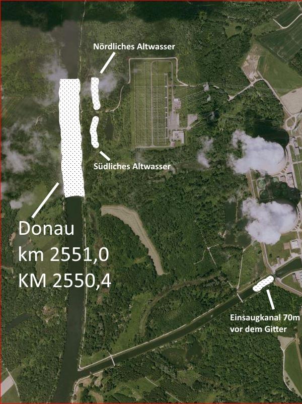 Luftbild der Donau