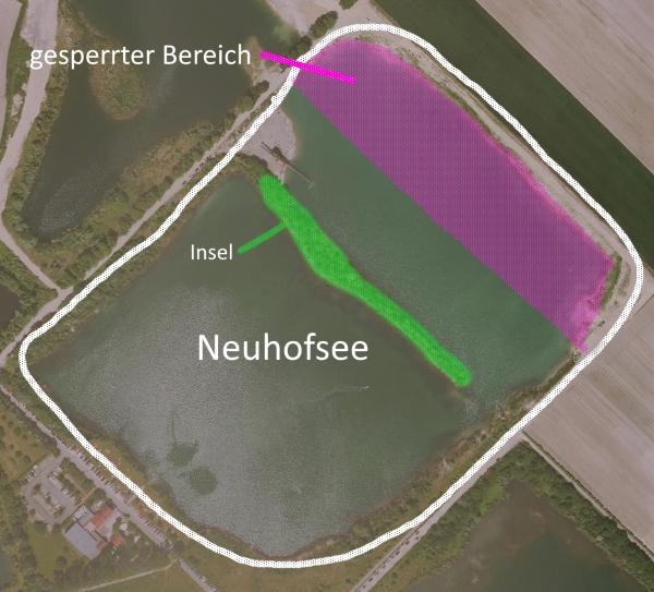 Luftbild des Neuhofsee